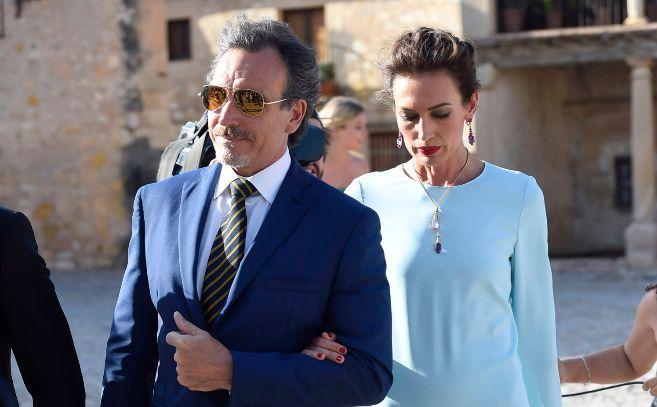 Nieves Álvarez y su marido, Marco Severini, en su última aparición...