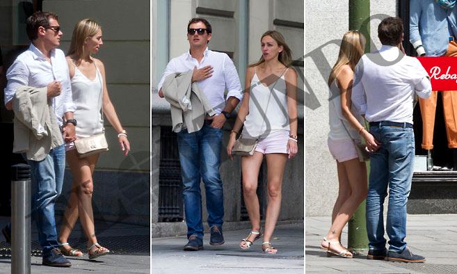 Este miércoles, Albert Rivera y su novia, Beatriz, dieron un paseo...