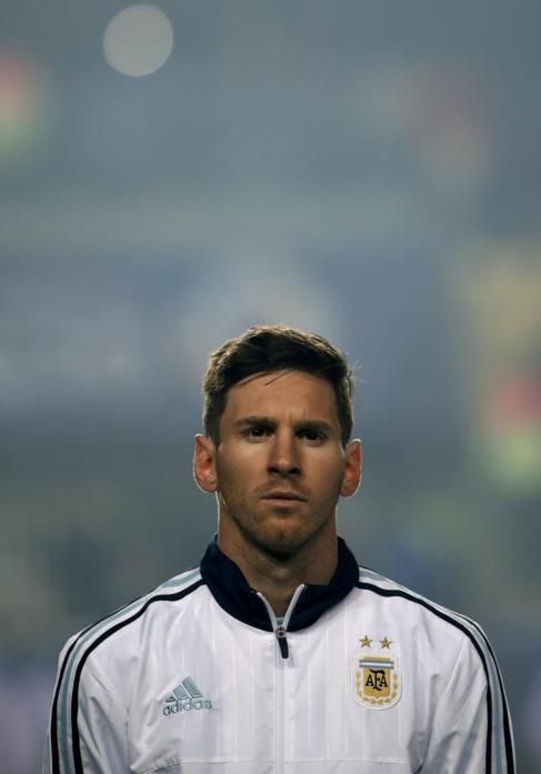 Leo Messi durante un partido de la Copa Améria