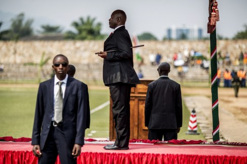 El Presidente Pierre Nkurunziza durante la celebración del 53...