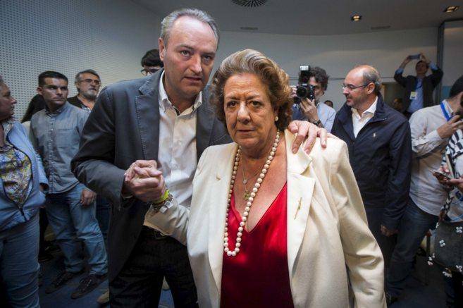 Alberto Fabra y Rita Barberá, la noche de las últimas elecciones...