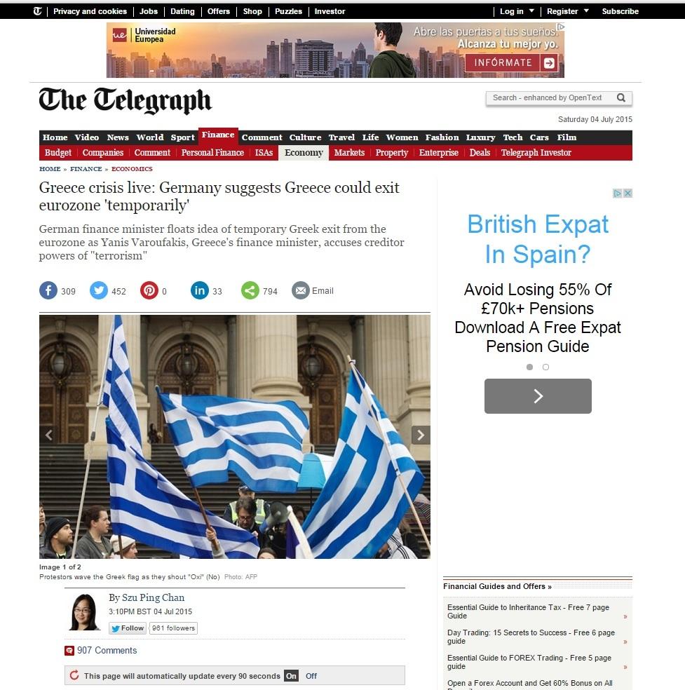 The Telegraph recoge la entrevista de EL MUNDO en la noticia de que...