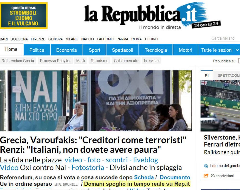 La Repubblica incide en la visión de Varufakis de los acreedores como...