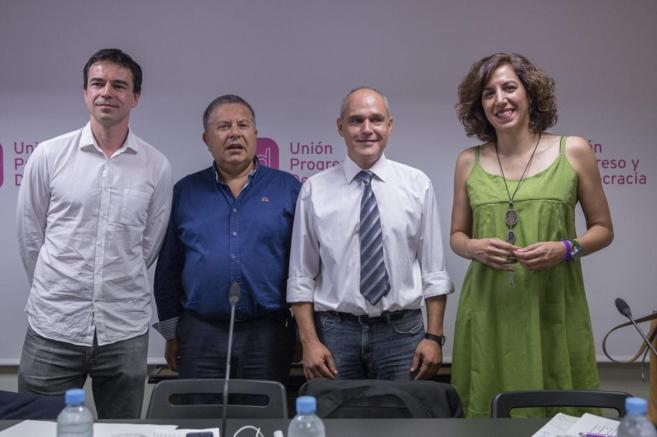 Los candidatos Andrés Herzog, Julián Domínguez, Tono Rueda e Irene...