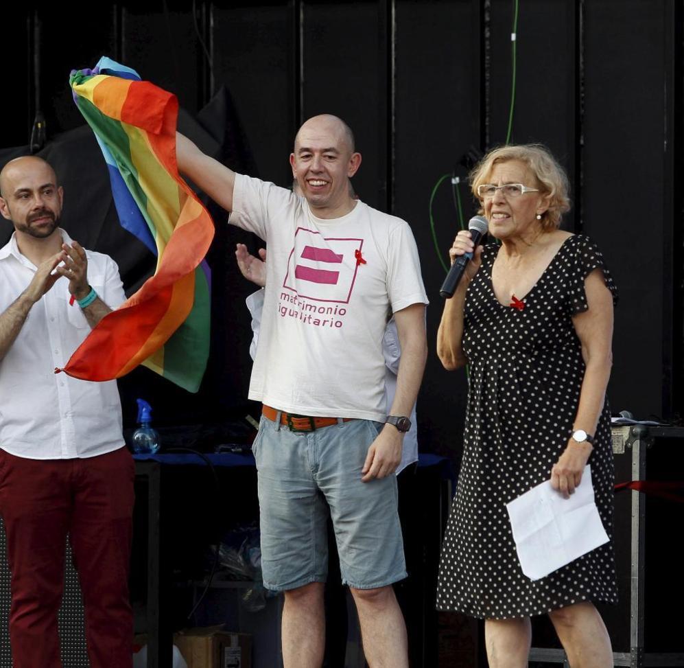 Manuela Carmena, alcaldesa de Madrid, ha estado presente en la...