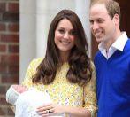 Los duques, con su hija.