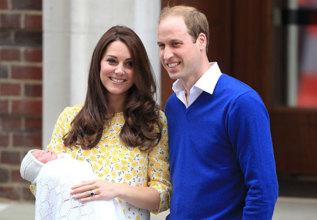 Los duques de Cambridge, presentando a su hija.