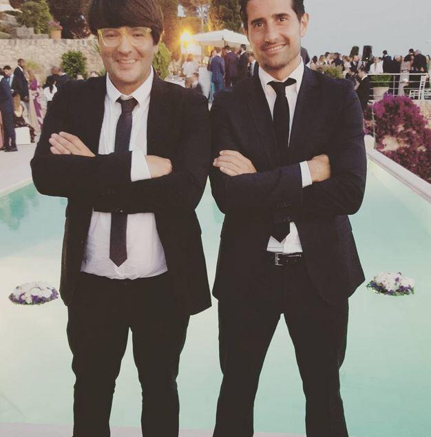 El futbolista Rubén de la Red, ex del Real Madrid, y el conocido 'deejay' Wally López acudieron a la cita como buenos amigos de Rudy Fernández.