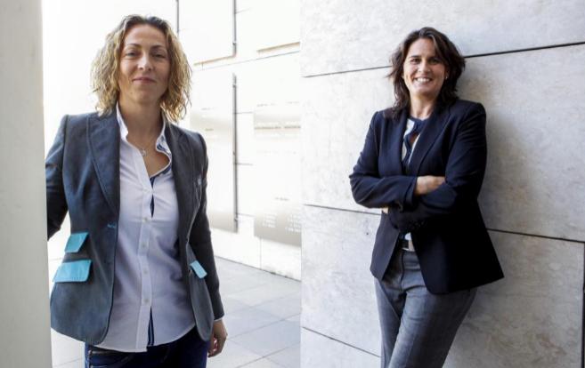 Conchita Martínez (dcha.) y Gala León, el pasado mes de enero.