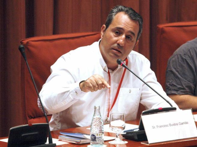 Paco Bustos en el Parlament