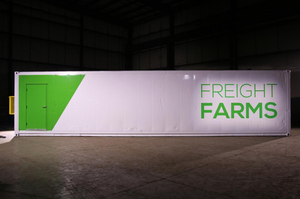 El 'contenedor-granja' de Freight Farms.