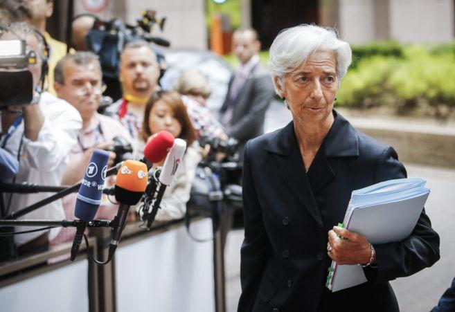 La directora gerente del FMI, Christine Lagarde, en Bruselas.