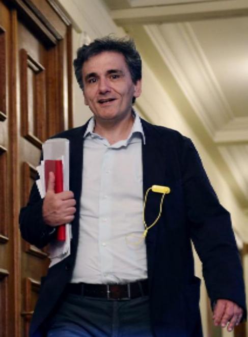 Euclid Tsakalotos, en el Parlamento griego