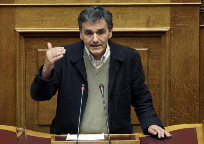 El nuevo ministro de Finanzas griego, Euclid Tsakalotos, en el...