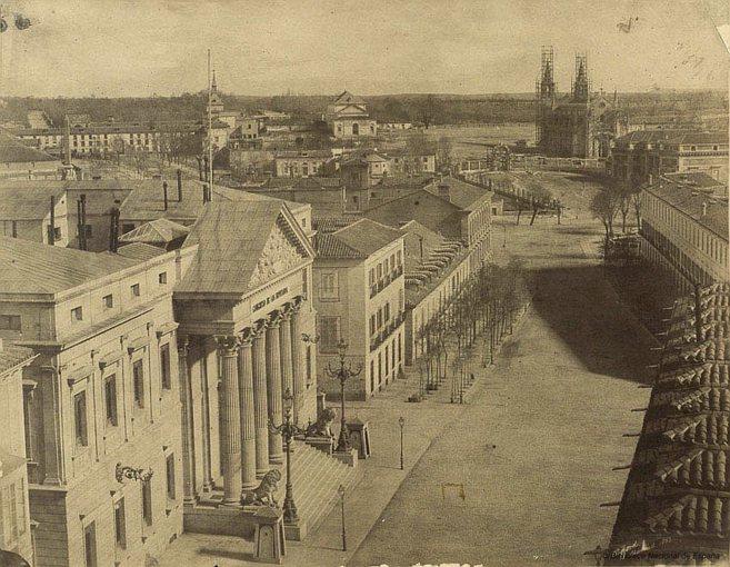 Carrera de San Gerónimo y Palacio del Congreso, 1853.