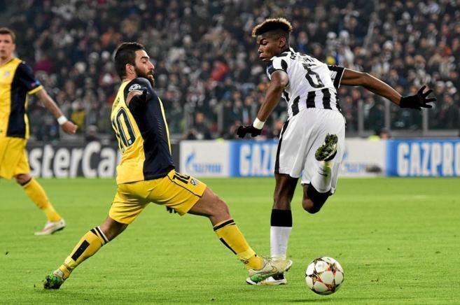 Arda, en un partido contra la Juventus de Pogba.