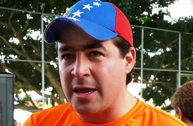 El líder opositor venezolano Daniel Ceballos, preso en Caracas.