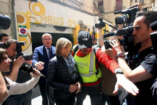 Teresa Gomis, el día de su detención el pasado mes de abril.