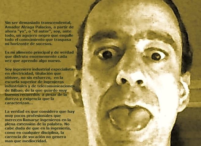 Autofoto de Amador Alzaga y su perfil.