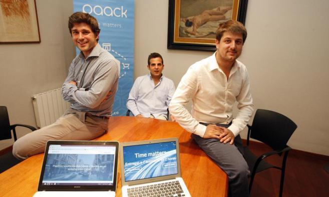 El equipo de Paack, Xavier Rosales, Fernando Benito y Víctor Obradors