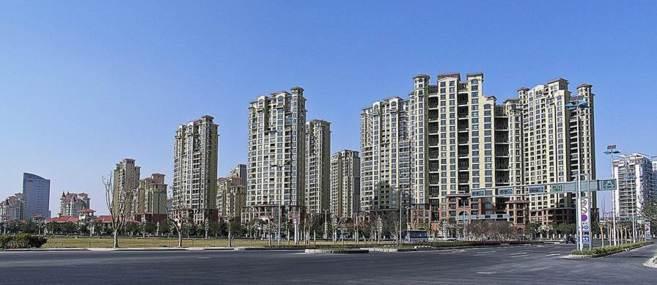 Apartamentos en la ciudad de Suzhou.