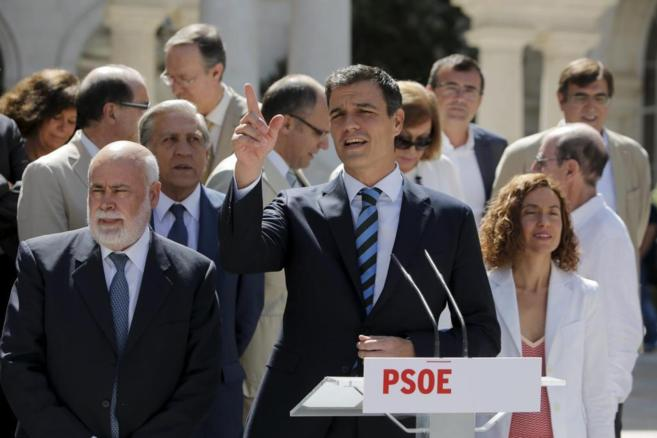 Pedro Sánchez, esta mañana en Madrid.