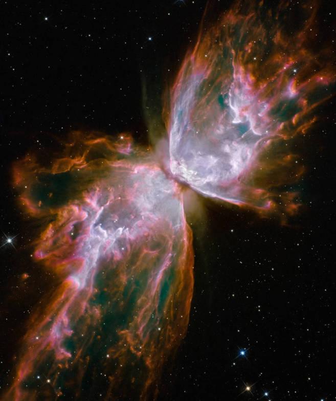 La transformación de una estrella en nebulosa planetaria.