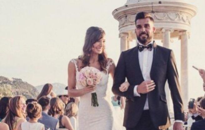 Momento de la boda de Miguel Ángel Moyá.