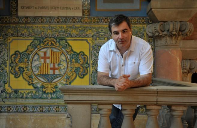 Konstantin Novoselov en el Hospital Sant Pau de Barcelona