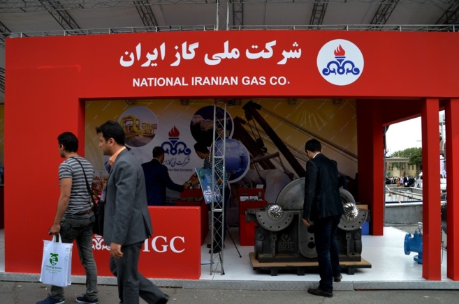 Stand de una compañía iraní de gas
