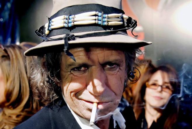 El guitarrista de los Rolling Stones, Keith Richards.