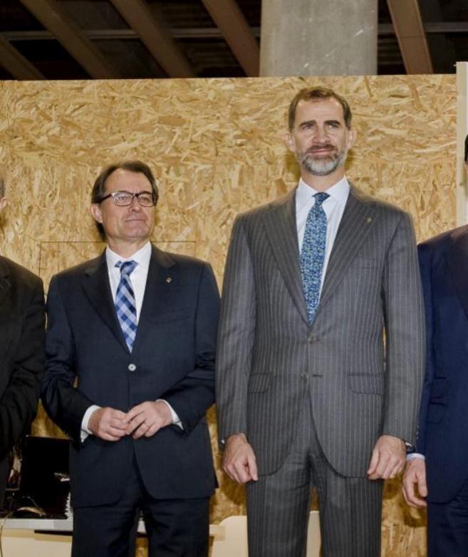 Artur Mas y Felipe de Borbón, juntos en la inauguración del MWC.