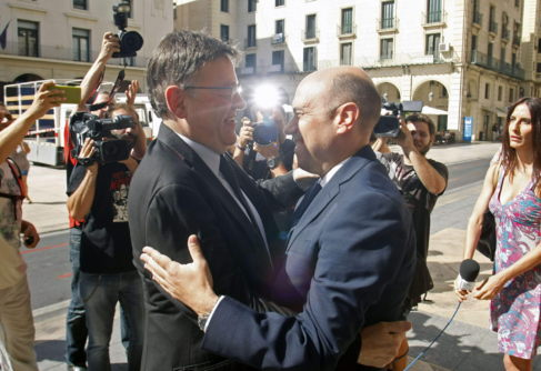 El alcalde de Alicante recibe a Echávarri en su visita al...