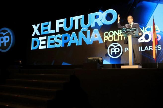 Mariano Rajoy, durante su intervención en la Conferencia Política...