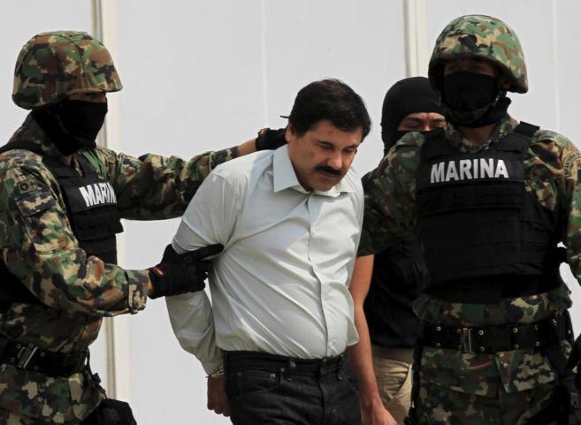 Guzmán, el día que fue detenido en 2014 en Mazatlán.