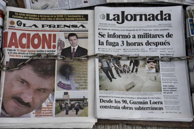 Portadas de periódicos mexicanos muestran la detención de 'El...