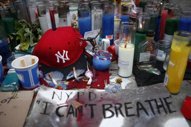 Un memorial en Staten Island (Nueva York) recuerda a Eric Garner.