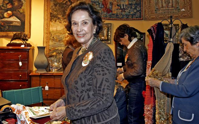 La hija del dictador Francisco Franco, Carmen Franco.