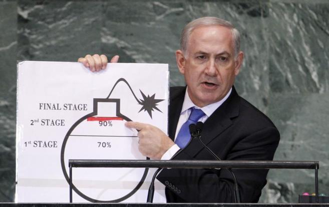 Benjamin Netanyahu argumenta su desacuerdo con el pacto nuclear con...