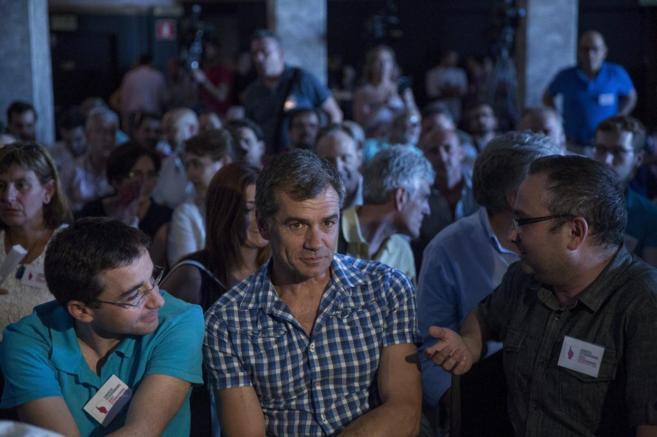 Toni Cantó, momentos antes de conocer el resultado de la votación en...