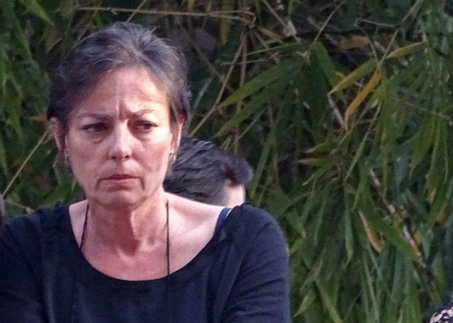 Matilde Solís, con gesto triste, la pasada Semana Santa.