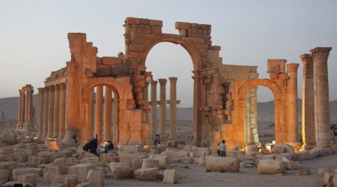 Imagen de archivo de la antigua ciudad de Palmira, en Siria, hoy...