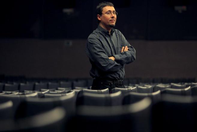 Elio Quiroga en la presentación de su película NO-DO.