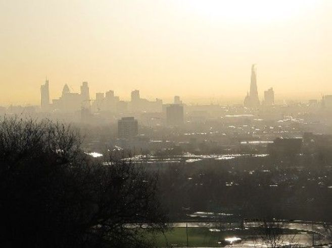 El centro de Londres desde Hampsteah Heath