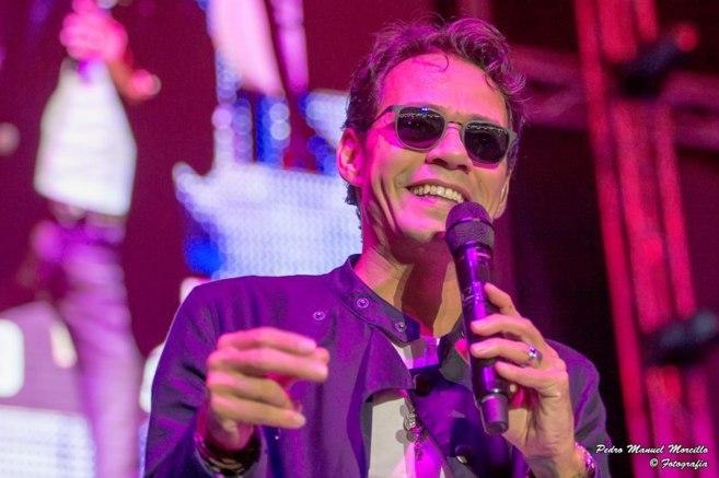 El artista puertorriqueño Marc Anthony durante la actuación en...