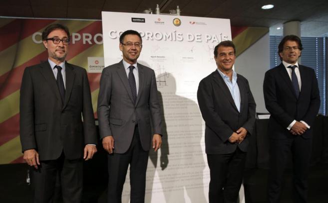 Los cuatro candidaso a la presidencia del Barça.