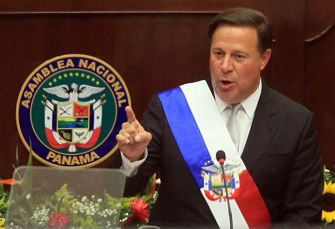 Juan Carlos Varela, presidente de Panamá, en el congreso al cumplirse...