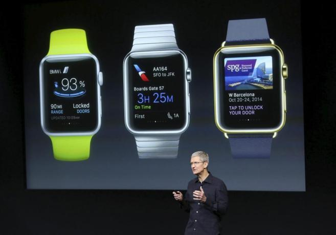 Presentación de las aplicaciones Apple Watch en California