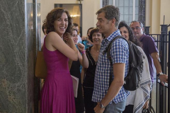 Irene Lozano y Toni Cantó, hace unos días en Madrid.