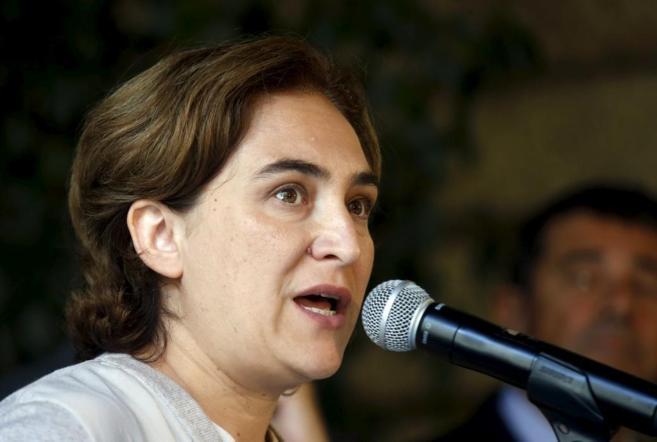 La alcaldesa de Barcelona, Ada Colau, durante una intervención en el...